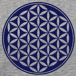 Vector - Flower of Life - 03, 1c, sacred geometry, energy, symbol, powerful, healing, protection, cl T-shirts - Mannen Premium T-shirt