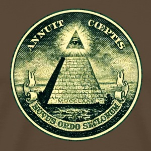 All seeing eye, pyramid, dollar, freemason, god T-skjorter - Premium T-skjorte for menn