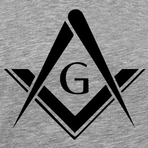 freemason symbol, masonic square & compass T-Shirts - Men's Premium T-Shirt