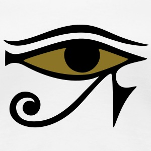 Horus eye,  protection amulet, magic & strength T- - Women's Premium T-Shirt