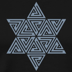 Merkaba, Mer-Ka-Ba, Merkabah, vector graphics, divine light vehicle, sacred geometry, star tetrahedron, Flower of life T-skjorter - Premium T-skjorte for menn