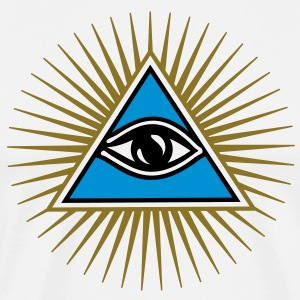 all seeing eye - eye of god - 1-3 colors - symbol of Omniscience & Supreme Being Koszulki - Koszulka męska Premium
