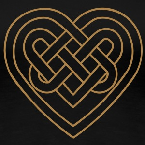 Celtic heart, endless knots, love & loyalty Camisetas - Camiseta premium mujer