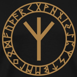 Algiz rune I rune of higher vibrations I 1c I T-skjorter - Premium T-skjorte for menn