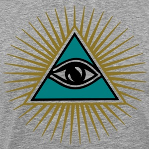 all seeing eye - eye of god - 1-3 colors - symbol of Omniscience & Supreme Being T-Shirts - Men's Premium T-Shirt