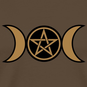 Pentacle /Pentagram - Wicca triple moon / Amulet T-Shirts - Men's Premium T-Shirt