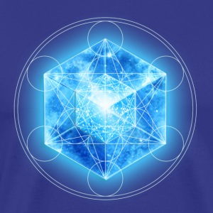 Metatrons Cube with TESSERACT, Hypercube 4D, digital, Symbol - Dimensional Shift,  T-shirts - Herre premium T-shirt