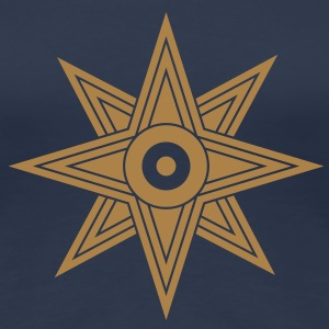 Star Of Ishtar - Venus Star, vector 03, Symbol of  - Women's Premium T-Shirt