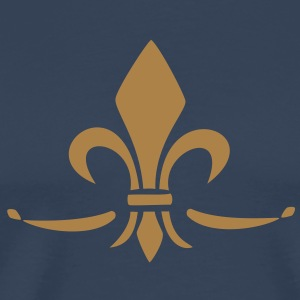 Fleur de Lis - Lily Flower, Trinity Symbol - Charity, Hope and Faith, c, 1 T-Shirts - Men's Premium T-Shirt