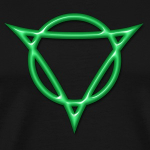 AUM - strength and radiance, digital, green, Antares symbol system, powerful symbol T-shirt - Maglietta Premium da uomo