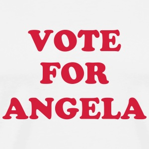 vote for angela T-Shirts - Männer Premium T-Shirt