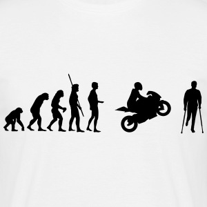 Evolution motorcycle accident  T-Shirts - Men's T-Shirt