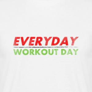 Everyday Workout Day | Washed Out Style Koszulki - Koszulka męska