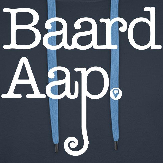 Baard Aap - Men's Hoodie (White print)