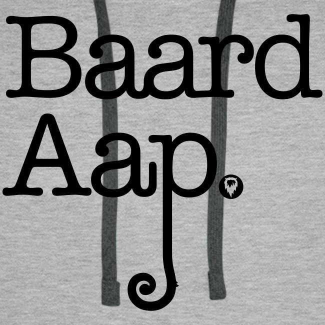 Baard Aap - Men's Hoodie (black print)