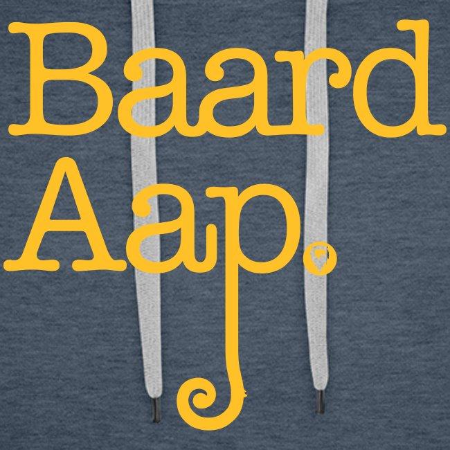 Baard Aap - Men's Hoodie (Yellow print)