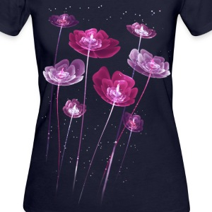 Pink Flowers T-Shirts - Frauen Bio-T-Shirt