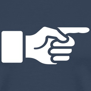 Pointer finger, forefinger, hand, index, direct,  T-shirts - Premium-T-shirt herr