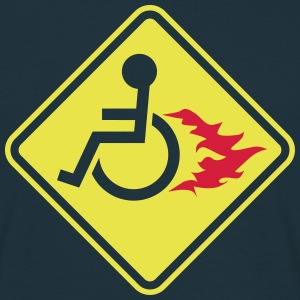 Wheelchair on Fire T-Shirts - Men's T-Shirt