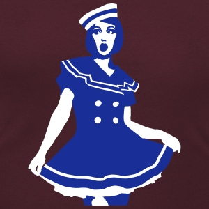 Pop Art - Maritime Sailor sposa sexy Magliette - T-shirt scollata donna