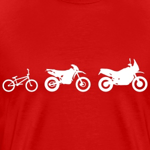 Enduro Cross Evolution T-Shirts - Men's Premium T-Shirt