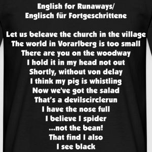 english for runaways T-Shirts - Männer T-Shirt