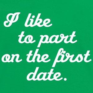 I like to part on the first date T-Shirts - Frauen Kontrast-T-Shirt