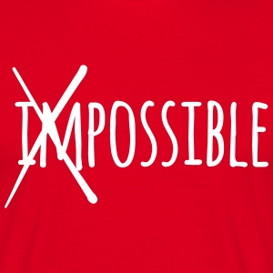 Impossible Possible 1c T-Shirts - Männer T-Shirt