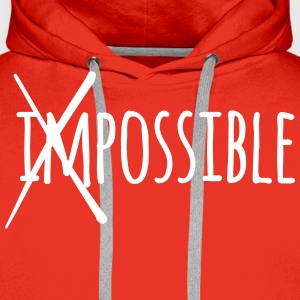 Impossible Possible 1c Pullover & Hoodies - Männer Premium Hoodie