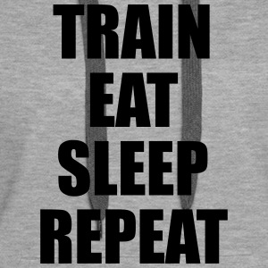Train Eat Sleep Repeat Felpe - Felpa con cappuccio premium da donna