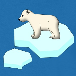 Little Polar Bear and Ice Floe Magliette - Maglietta da uomo con scollo a V