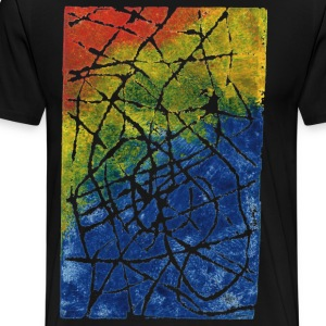 Stamped Colors and Scratched Lines in Canvas. - Men's Premium T-Shirt