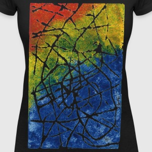 Chromatic Labyrinth. Colorful and quality Inks. - Women's V-Neck T-Shirt