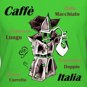 Coffee Art Illustration - Moka Pot - T-shirt ecologica da donna