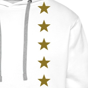 Five Stars, winner, hero, best, 5, golden, award Hoodies & Sweatshirts - Men's Premium Hoodie