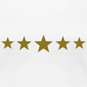 Five Stars, winner, hero, best, 5, golden, award T-Shirts - Women's Premium T-Shirt
