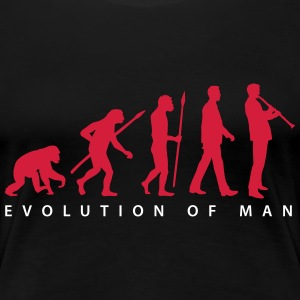evolution_klarinette_spieler_082013_b_2c T-Shirts - Frauen Premium T-Shirt