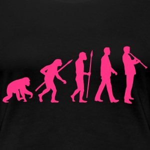 evolution_klarinette_spieler_082013_a_1c T-Shirts - Frauen Premium T-Shirt