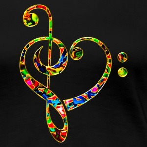 Bass clef heart, treble clef, music lover, notes T-skjorter - Premium T-skjorte for kvinner