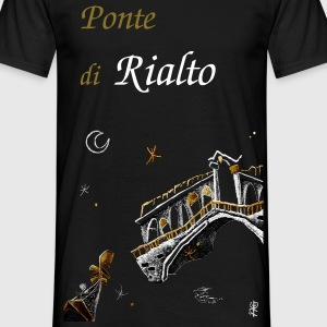 Gondola Venice Night - Grand Canal Italy  - Men's T-Shirt