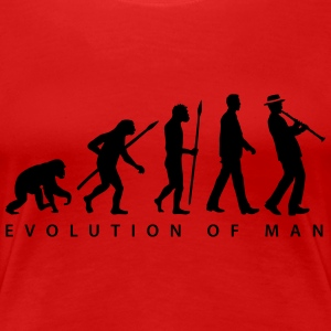 evolution_clarinet_player_092013_b_1c T-Shirts - Frauen Premium T-Shirt