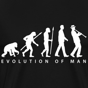 evolution_clarinet_player_092013_b_1c T-Shirts - Männer Premium T-Shirt