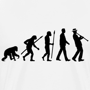 evolution_clarinet_player_092013_a_1c T-Shirts - Männer Premium T-Shirt