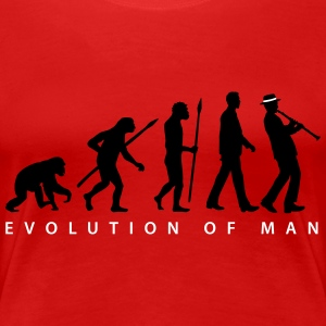 evolution_clarinet_player_092013_b_2c T-Shirts - Frauen Premium T-Shirt