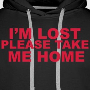 I'm Lost Please Take Me Home Gensere - Premium hettegenser for menn