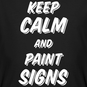 Keep calm and paint signs - Men's Organic T-shirt