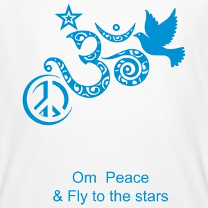 Om Peace and Fly to the Stars Tee shirts - T-shirt bio Homme