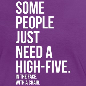 some people need highfive face chair T-Shirts - Frauen Kontrast-T-Shirt