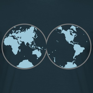 World into two hemispheres  T-Shirts - Men's T-Shirt