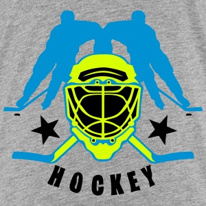 casque hockey player joueur crosse logo Tee shirts - T-shirt Premium Ado